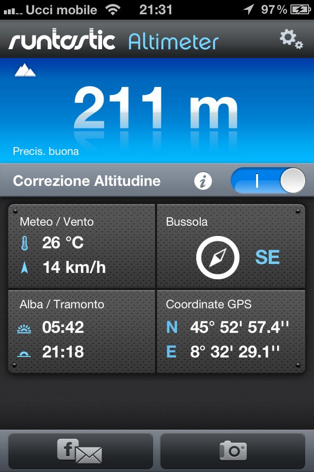 Runtastic Altimetro PRO, l'App per l'outdoor . 2