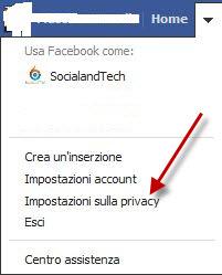 Come impostare la privacy in Facebook 2