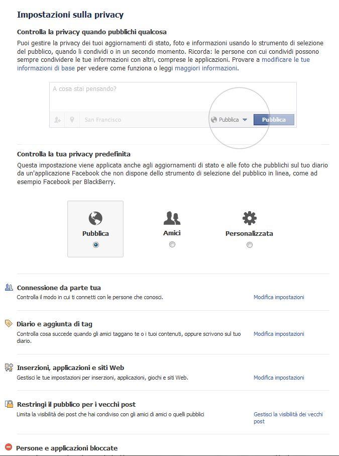 Come impostare la privacy in Facebook 3