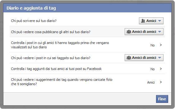 Come impostare la privacy in Facebook 4