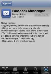 Aggiornamento Facebook Messenger 2