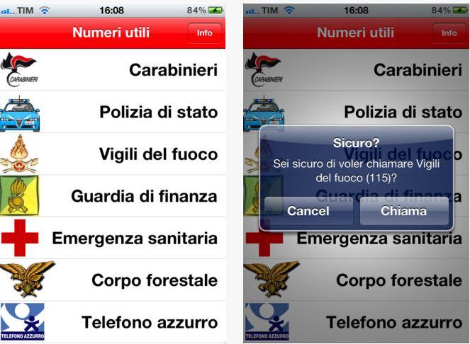 EmerNum l'App per i numeri utili ! 1