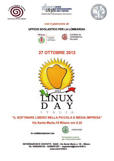 Il bilancio qualitativo del Linux Day 2012 al SIAM 1