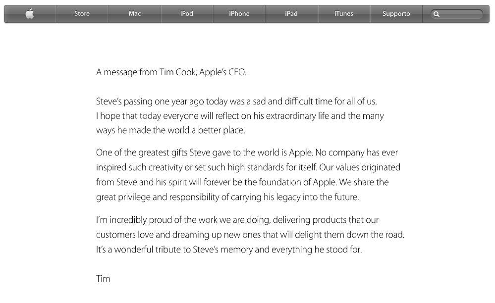 Apple ricorda Steve Jobs 1