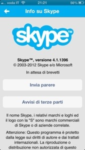 Si aggiorna Skype per iPhone 5 1