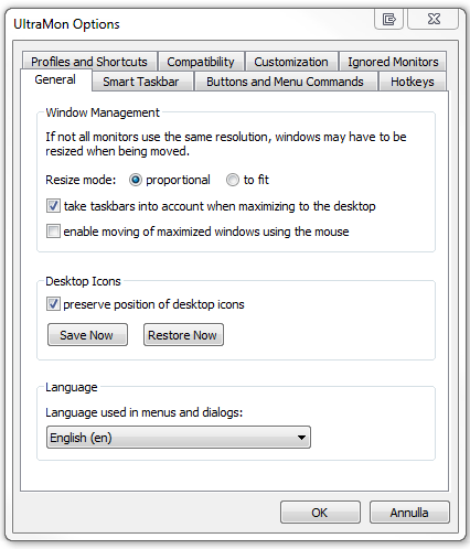 UltraMon il software per chi vuole gestire due monitor. 3